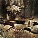 Vintage Violin by Nadya Johnson