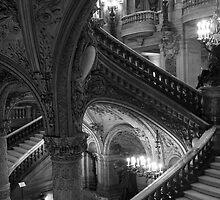 B&W Interior of Paris Opera Garnier by parischris