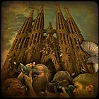 Back to the Future or crazy shooting at Sagrada Familia during its possible Grand Opening in the 2020's...   by egold
