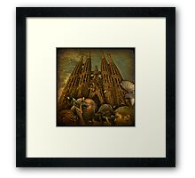 Back to the Future or crazy shooting at Sagrada Familia during its possible Grand Opening in the 2020's...   Framed Print