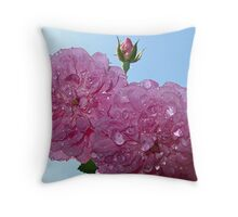 pretty in pink- support breast cancer research Throw Pillow
