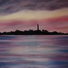 """""""Scattery Island - October Sunset"""" - Oil Painting by Avril Brand"""