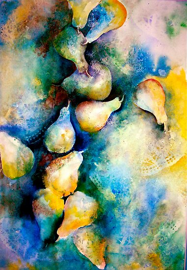 Abstract...Pears and Lace... by © Janis Zroback
