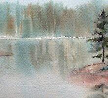 Misty Morn on Georgian Bay  (Ontario, Canada) by bevmorgan