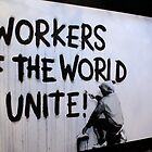 Banksy - Workers Unite by Kiwikiwi
