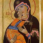 Theotokos of Vladimir by Ivana Vuckovic