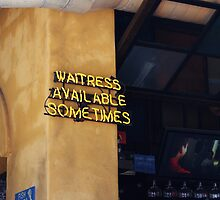 Waitress Available - Sometimes by Julia Washburn
