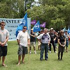 Civic Park Union Protest by Bernadette  Smith