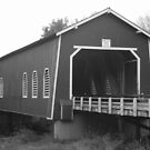 Shimanek Covered Bridge BW by Rhonda  Thomassen
