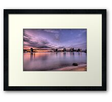 Secret Beach - Moods Of A City - The HDR Experience Framed Print