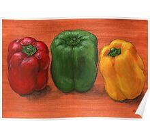 Bell Pepper Trio  Poster