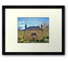 Two up two down , picture book house Framed Print