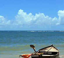 boat adrift in a summer day by momarch