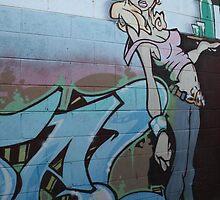 Grafitti Waitress by LeighSkaf