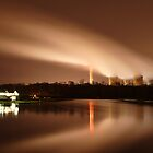 Ratcliffe Power Station by night by Paul Blackwell