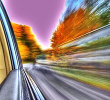 HDR grunge rural road autumn motion by Jamie Roach