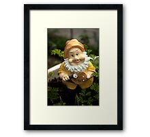 Painty the Garden Gnome Framed Print