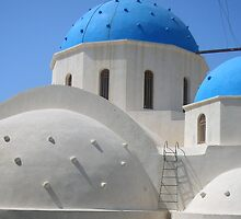 Greek Church on the island of Santorini by Patsy Smiles