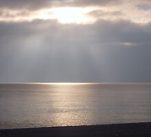 Sunburst over the Sea by Claire Elford