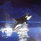 Orca breaching by DiJin