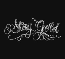 Stay Gold - dark tee by Sarah Caudle