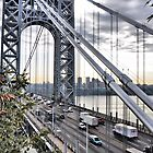 George Washington Bridge from Overlook Park by joan warburton