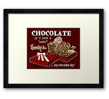 Chocolate - Thursday is any chocolate day Framed Print