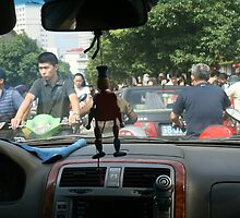 Traffic jam, Wuxi, China. by elphonline