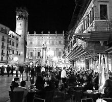 Saturday evening in the piazza by Valeria Palombo