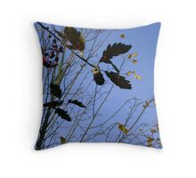 Flying South - autumn leaves, Burntisland Throw Pillow