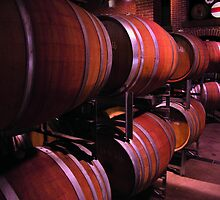 barrels in a winery by Paul (aka neich) Vournechis