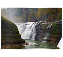 Upper Waterfalls-Letchworth State Park Poster