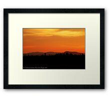 Valley Sunset Framed Print