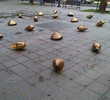 Golden seashells by Elias Santiago