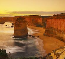 The Twelve Apostles at Sunset by RichardIsik