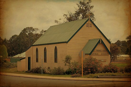 St Thomas More Catholic Church, Nannup, Western Australia by Elaine Teague