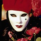 Carnival Mask with Red Roses, Venice  by Petr Svarc