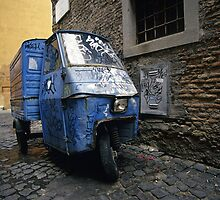 Three-wheeler, Trastevere, Rome (Italy)  by Petr Svarc