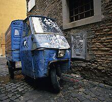 Three-wheeler, Trastevere, Rome (Italy)  by Petr Svarc