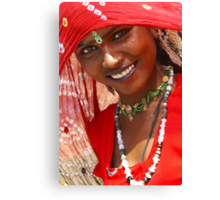 A Gypsy Girl from Rajasthan Canvas Print