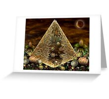 Alien Pyramid Greeting Card