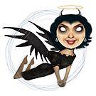 Black angel by womoomow