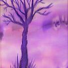Purple Tree by Caroline  Lembke