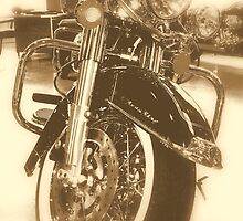 Harley Front End Sepia by rtographsbyrolf
