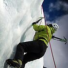 Ice climbing by Hadleigh Thompson