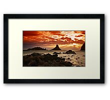 Acitrezza sunrise Framed Print