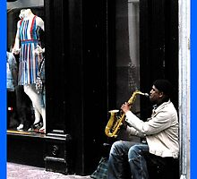 Street Sax Player  by John Walsh, IRELAND