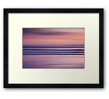 Sunset on an Abstract Beach Framed Print
