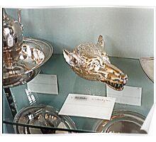 Silver-plate  Laarne Castle - Belgium - Wolf beaker Poster