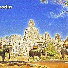 Angkor Elephant Ride by Mike Mahalo
